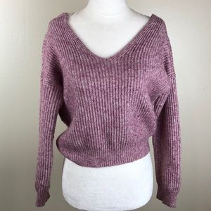 Anthropologie Angel of the North Twist Sweater